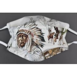 masque coton bio enfant cowboy indien