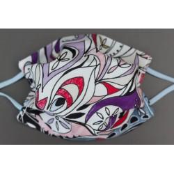 masque en coton bio enfant rose violet multi