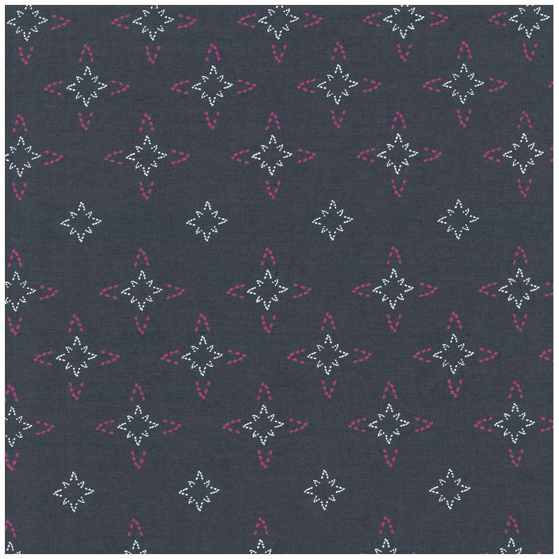 carré de coton bio gris étoiles noël