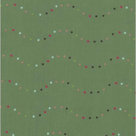 carré de coton bio vert noël