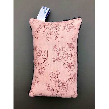 éponge lavable bio rose fleurs roses