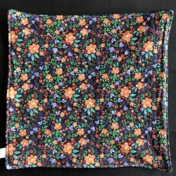 feuille d'essuie tout lavable en coton bio petites fleurs foncées