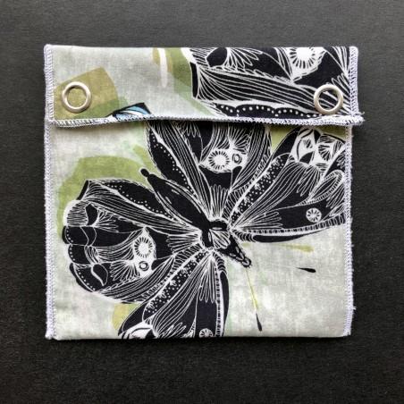 pochette imperméable en coton bio papillon