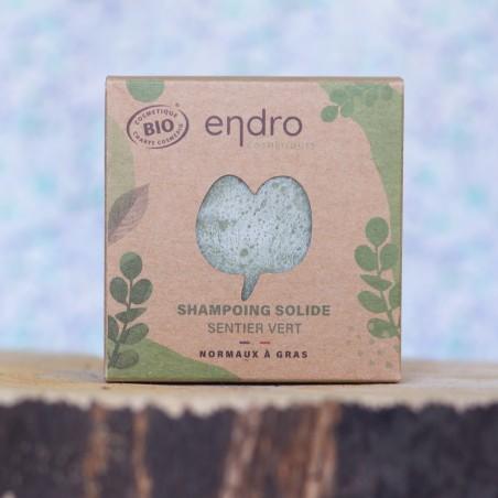 Shampoing solide sentier vert Endro palet