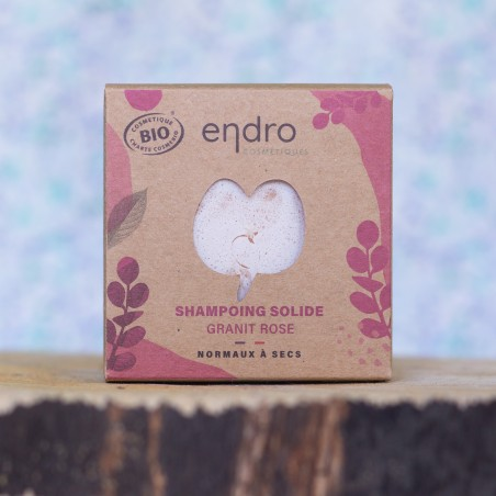 shampoing solide granit rose endro palet